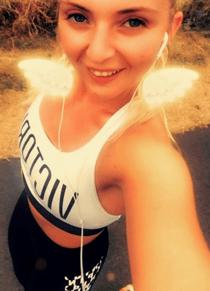 Lucinda Else training for the Robin Hood Half Marathon