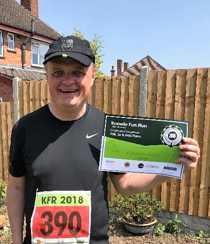 Stephen Humphrey Training for the Robin Hood Half Marathon