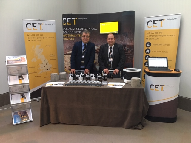 CET Infrastructure exhibit at NCE Tunnelling Festival 2018